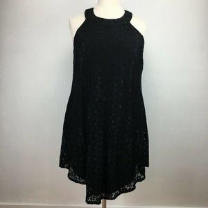 Trixxi Black Floral Sleeveless Lace Dress Size 2X